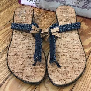 Like new Italian shoemaker flip-flops